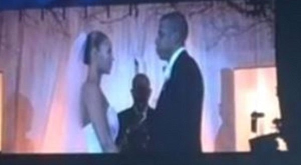 Beyonce and Jay-Z Share Wedding Footage At 'On The Run' Concert