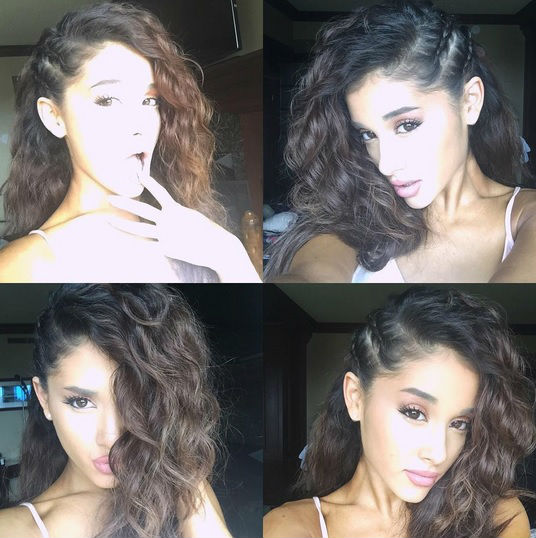 ariana grande natural hair