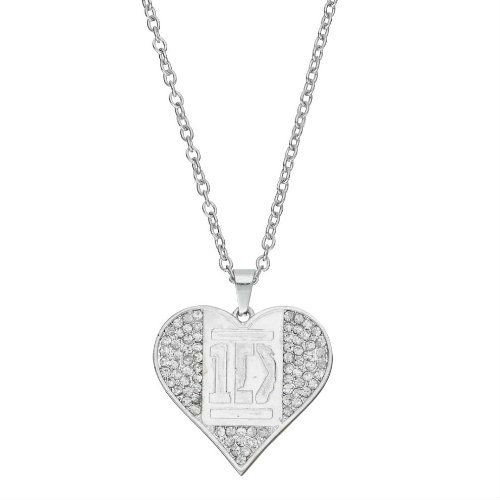 One Direction Crystal Heart Necklace