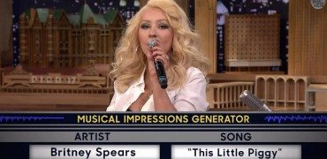 christina aguilera britney spears impression