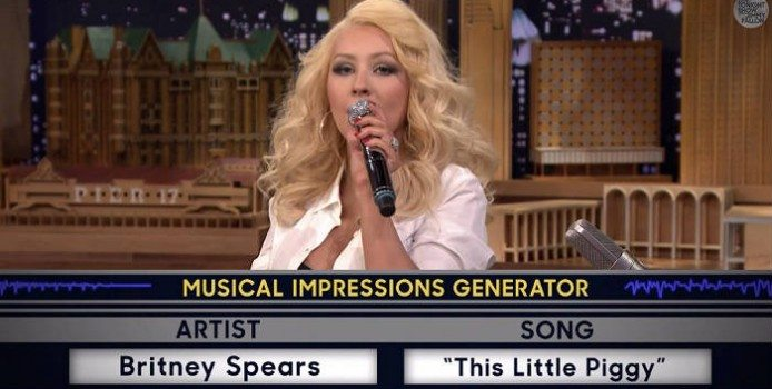 Christina Aguilera Made The Best Britney Spears Impression