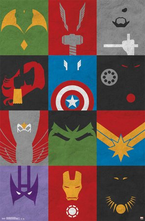 Avengers Comic Superhero Poster Amazon
