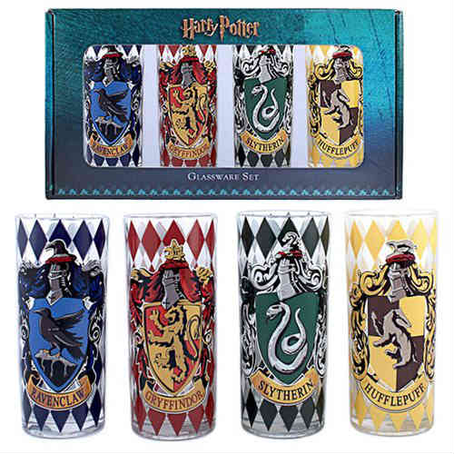 Harry Potter House Crests Glass