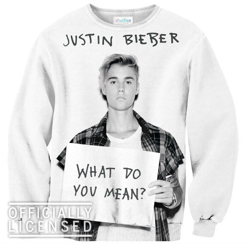 bieber what do you mean sweater
