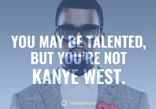 kanye talented quote