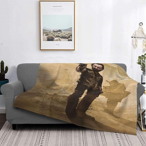 rick grimes fleece blanket