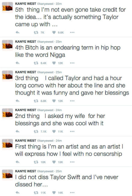 famous lyrics taylor swift and kanye west explanation
