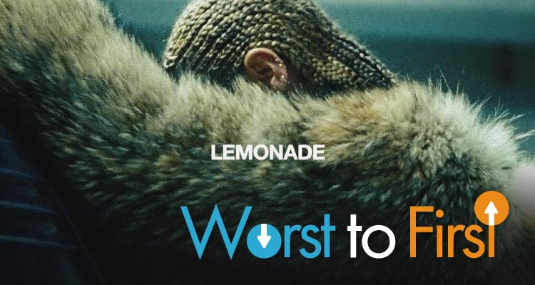 beyonce lemonade songs ranked