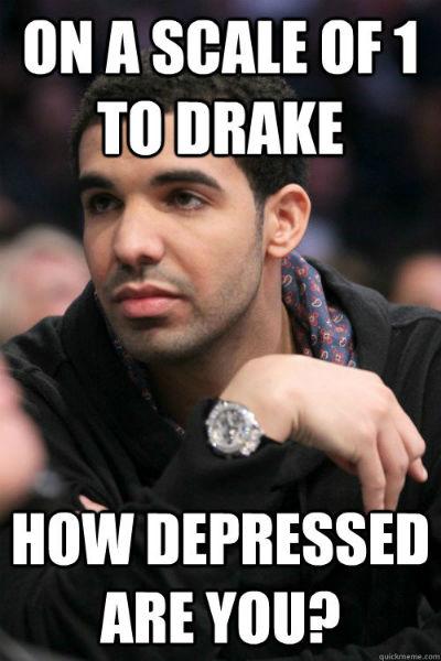 drake depressed meme