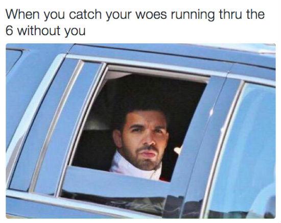 drake woes meme