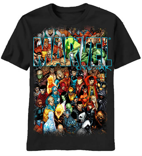 26 marvel t shirts that will bring out the superhero in you. Black Bedroom Furniture Sets. Home Design Ideas