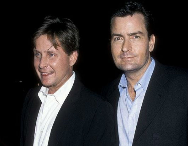 Charlie Sheen Emilio Estevez