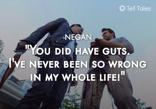 negan guts quote