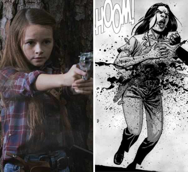 judith walking dead comics vs show
