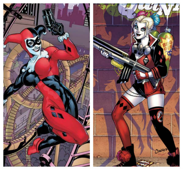 harley quinn before after