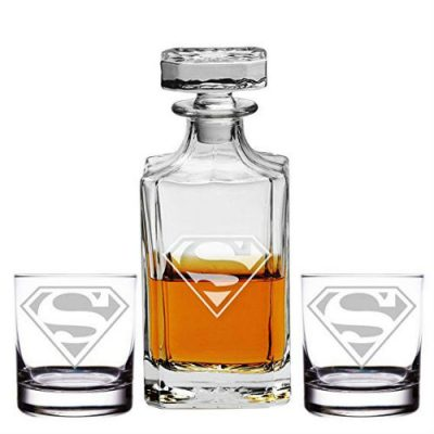 superman glass set