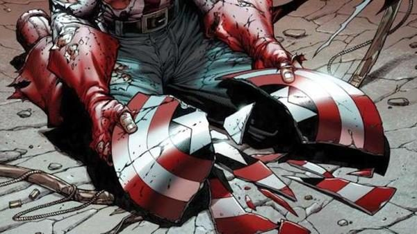 captain america broken shield