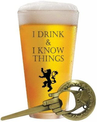 game thrones beer glass