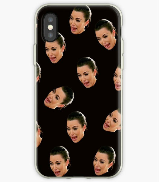 kim crying phone case