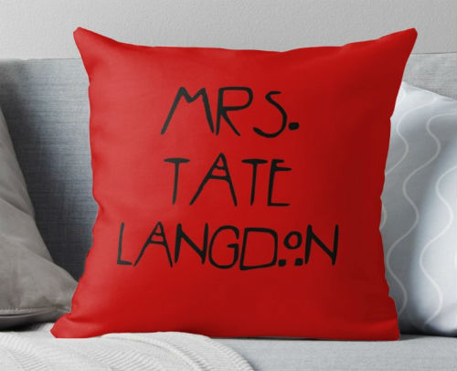 tate langdon pillow
