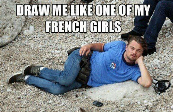 leo dicaprio french girls meme